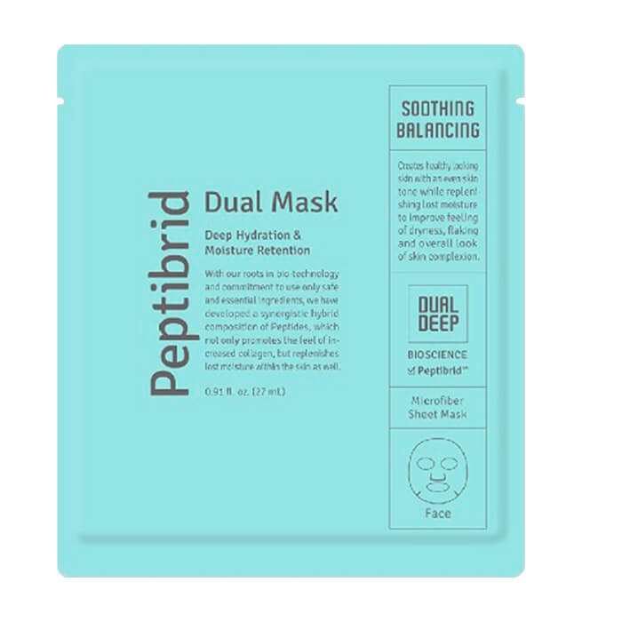 Купить Тканевая маска Vitabrid C12 Peptibrid Dual Mask Soothing Balancing, Увлажняющая успокаивающая маска для лица двойного действия, Южная Корея