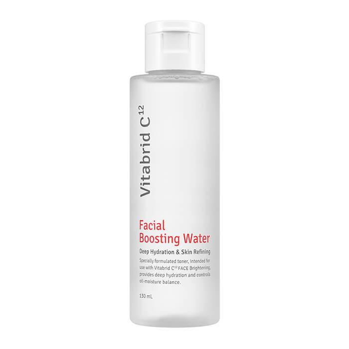 Купить Тонер для лица Vitabrid C12 Facial Boosting Water, Укрепляющая вода для лица с пептидами и гиалуроновой кислотой, Южная Корея