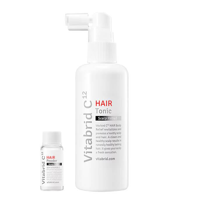 Купить Тоник для кожи головы Vitabrid C12 Hair Tonic Set Scalp Relief, Тонер с витамином С для лечения волос и кожи головы, Южная Корея