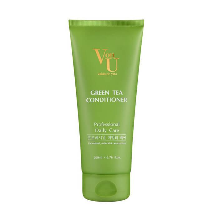 Кондиционер для волос Von U Green Tea Conditioner Увлажняющий кондиционер для волос с экстрактом зеленого чая фото