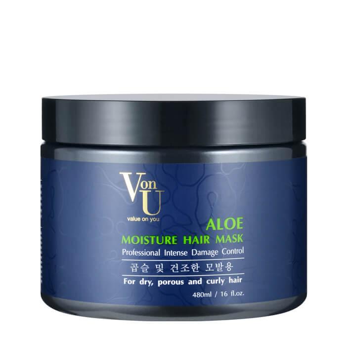 Маска для волос Von U Aloe Moisture Hair Mask Увлажняющая маска для волос с алое вера фото