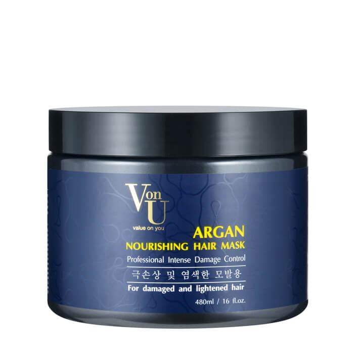 Купить Маска для волос Von U Argan Nourishing Hair Mask, Питательная маска для волос с аргановым маслом, Южная Корея