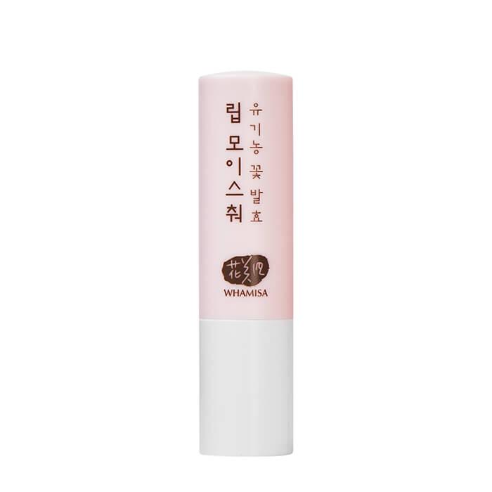 Купить Бальзам для губ Whamisa Organic Flowers Lip Moisture, Бальзам для губ на основе цветочных ферментов и натуральных масел, Южная Корея