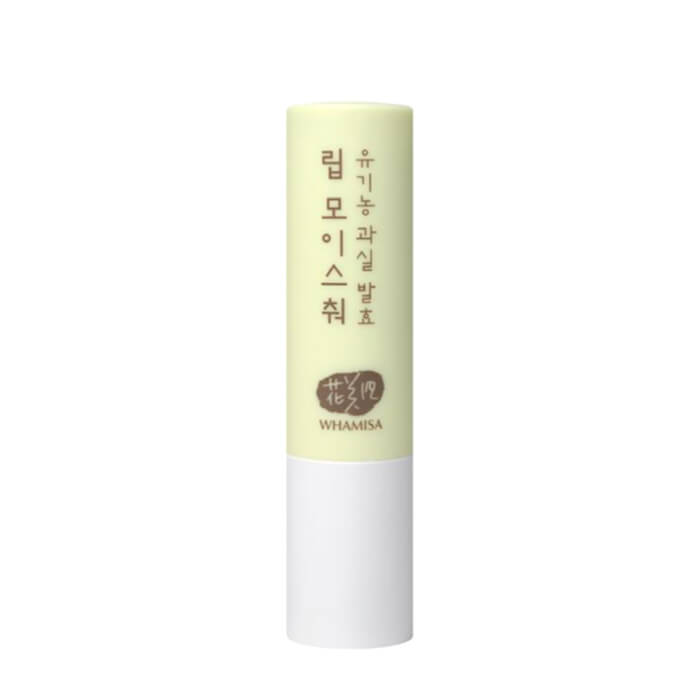 Бальзам для губ Whamisa Organic Fruits Lip Moisture (новый дизайн) Бальзам для губ на основе фруктовых ферментов и натуральных масел фото