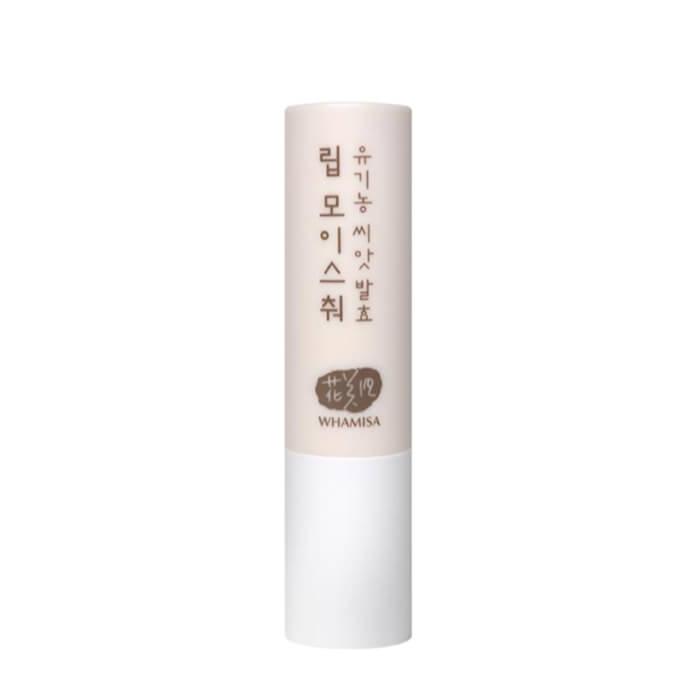 Купить Бальзам для губ Whamisa Organic Seeds Lip Moisture (новый дизайн), Бальзам для губ на основе ферментов семян растений и натуральных масел, Южная Корея