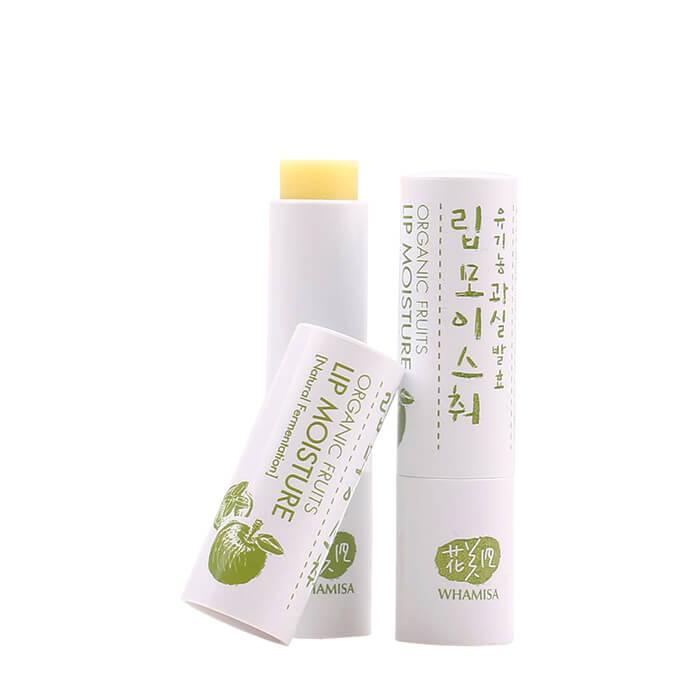Купить Бальзам для губ Whamisa Organic Seeds Lip Moisture, Бальзам для губ на основе ферментов семян растений и натуральных масел, Южная Корея