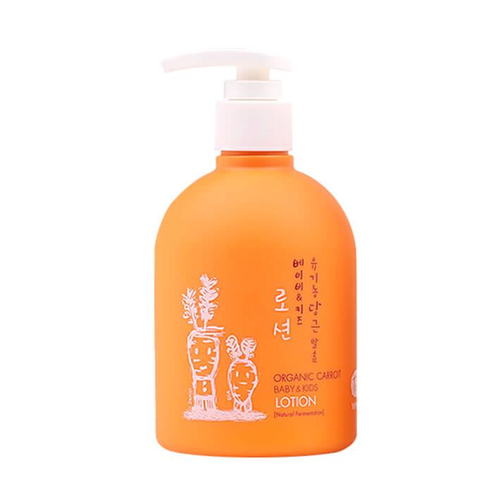 Купить Детский лосьон для тела Whamisa Organic Carrot Baby & Kids Lotion, Детский лосьон для ежедневного ухода за кожей на основе ферментов моркови, Южная Корея