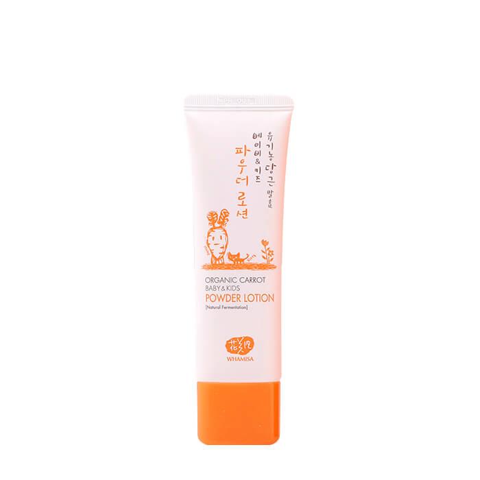 Купить Детский лосьон для тела Whamisa Organic Carrot Baby & Kids Powder Lotion, Детский лосьон от опрелостей на основе ферментов моркови, Южная Корея