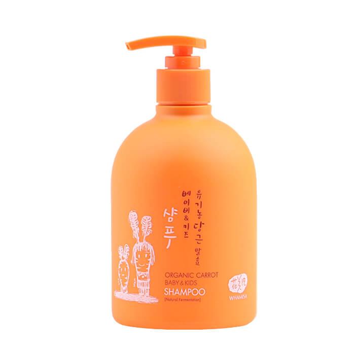 Купить Детский шампунь для волос Whamisa Organic Carrot Baby & Kids Shampoo, Бережный детский шампунь для мягкого очищения волос на основе ферментов моркови, Южная Корея