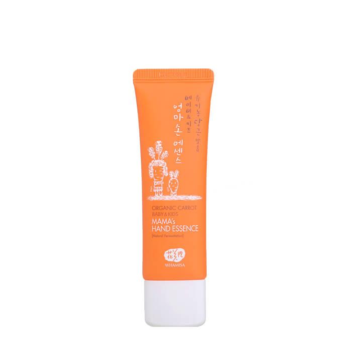 Купить Эссенция для рук Whamisa Organic Carrot Baby & Kids Mama's Hand Essence, Успокаивающая защитная эссенция для маминых рук на основе ферментов моркови, Южная Корея