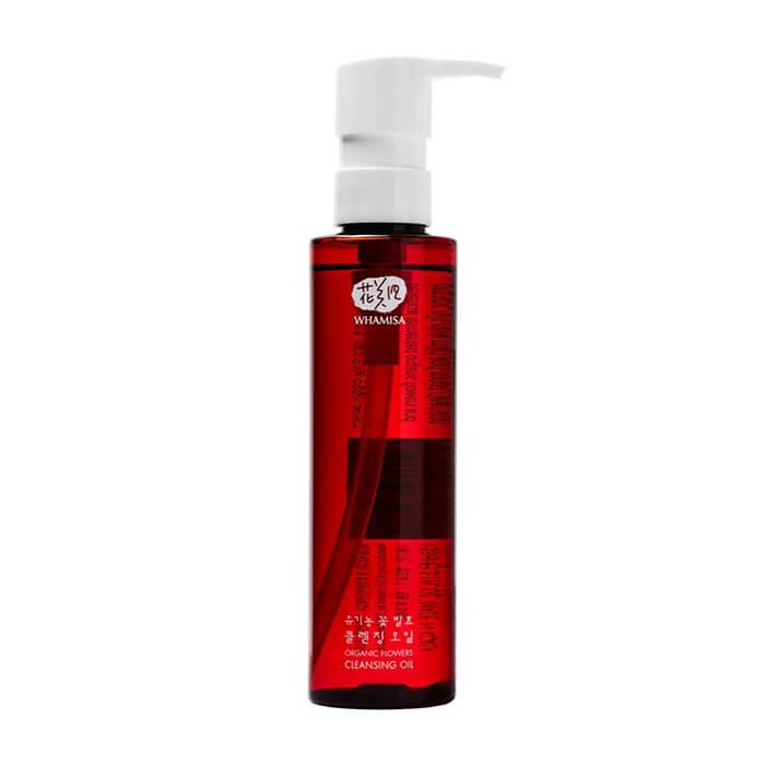 Купить Гидрофильное масло Whamisa Organic Flowers Cleansing Oil (153 мл), Гидрофильное масло для очищения кожи на основе цветочных ферментов, Южная Корея