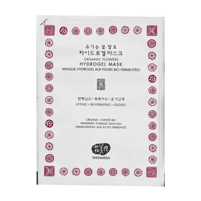 Купить Гидрогелевая маска Whamisa Organic Flowers Hydrogel Mask (новый дизайн), Маска для увлажнения и восстановления кожи лица на основе цветочных ферментов, Южная Корея