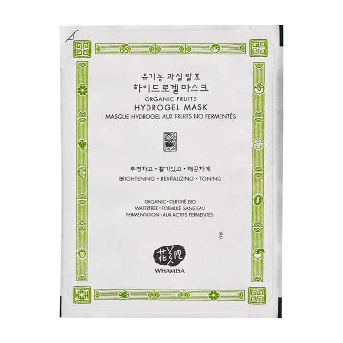 Купить Гидрогелевая маска Whamisa Organic Fruits Hydrogel Mask, Маска для балансирования кожи и сужения пор на основе фруктовых ферментов, Южная Корея
