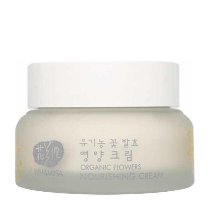 Крем для лица Whamisa Organic Flowers Nourishing Cream Day & Night (новый дизайн) Питательный насыщенный крем для кожи лица на основе цветочных ферментов фото
