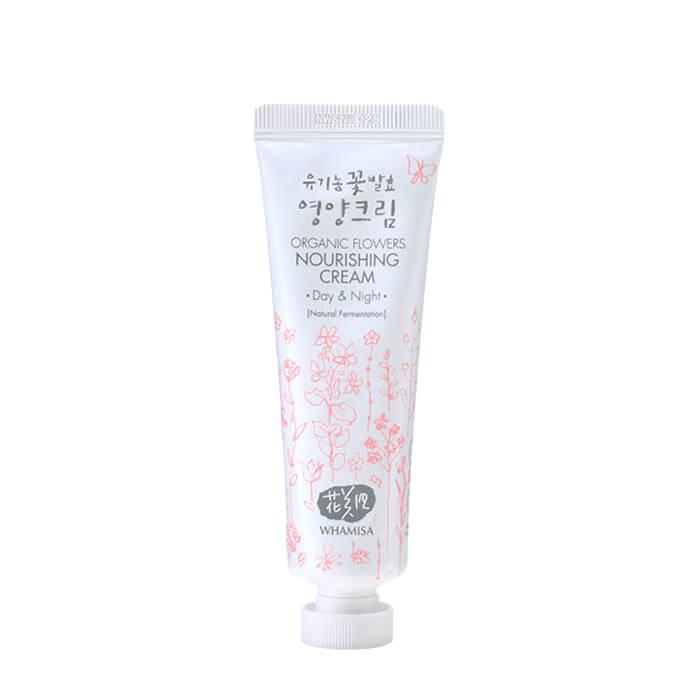 Купить Крем для лица Whamisa Organic Flowers Nourishing Cream Day & Night, Питательный насыщенный крем для кожи лица на основе цветочных ферментов, Южная Корея