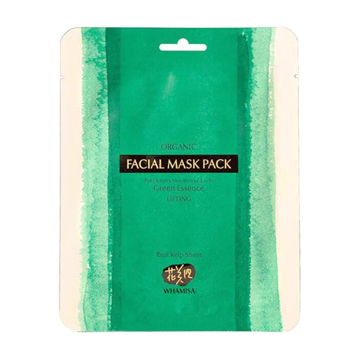 Купить Маска из водорослей Whamisa Organic Real Kelp Sheet Facial Mask Pack, Маска для лица из японской ламинарии для борьбы с возрастными изменениями кожи, Южная Корея