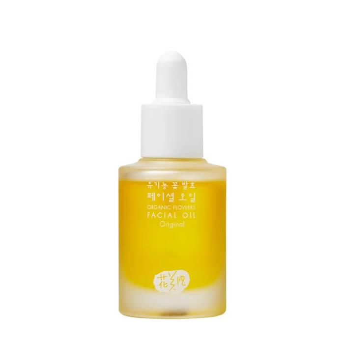 Масло для лица Whamisa Organic Flowers Facial Oil Смесь натуральных масел для лица с добавлением цветочных ферментов фото