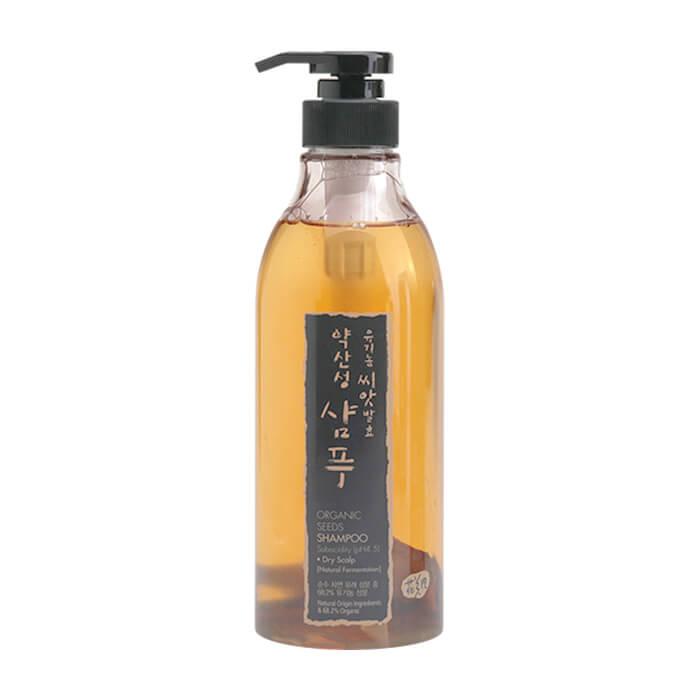 Купить Шампунь для волос Whamisa Organic Seeds Shampoo Subacidity For Dry Scalp, Шампунь на основе ферментов семян растений для нормальной и сухой кожи головы, Южная Корея
