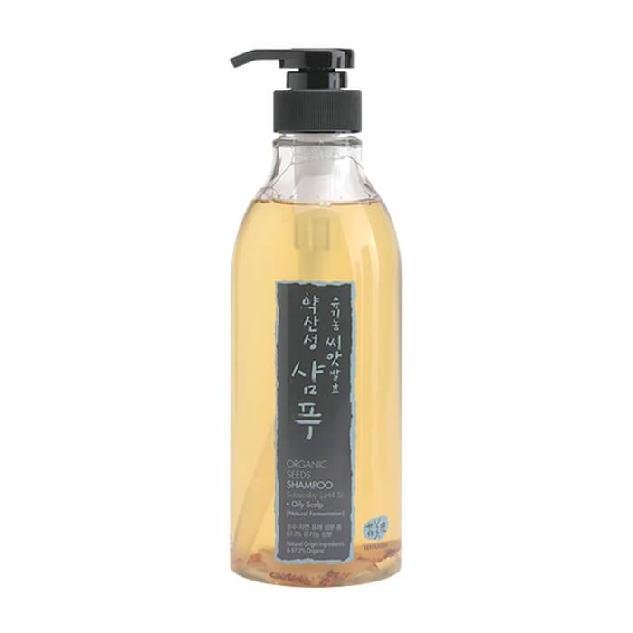 Купить Шампунь для волос Whamisa Organic Seeds Shampoo Subacidity For Oily Scalp, Шампунь на основе ферментов семян растений для жирной кожи головы, Южная Корея