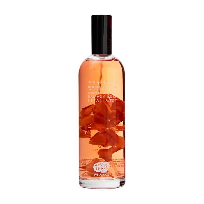Купить Спрей для лица Whamisa Organic Flowers Damask Rose Petal Mist, Спрей для лица на основе цветочных ферментов с экстрактом лепестков розы, Южная Корея