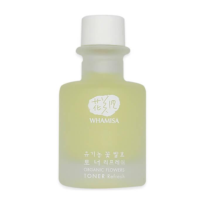 Купить Тонер для лица Whamisa Organic Flowers Toner Refresh (33, 5 мл), Освежающий тонер на основе цветочных ферментов и галактомисиса, Южная Корея