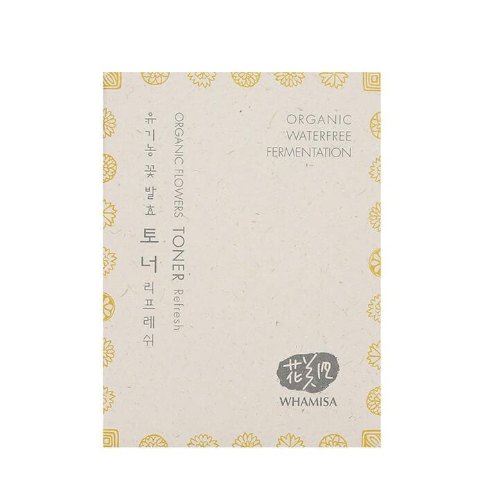 Купить Тонер для лица Whamisa Organic Flowers Toner Refresh (7, 5 мл), Освежающий тонер на основе цветочных ферментов и галактомисиса, Южная Корея