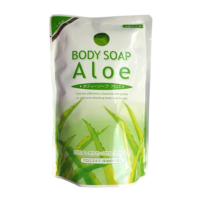 Купить Гель для душа Wins Aloe Body Soap (480 мл), Нежный увлажняющий гель для душа с натуральным экстрактом алоэ, Япония