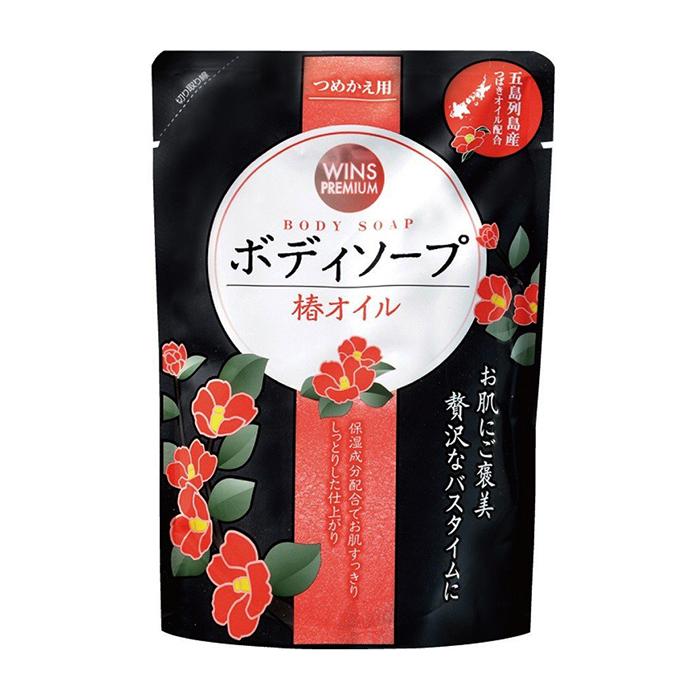 Купить Гель для душа Wins Premium Body Soap (400 мл), Нежный увлажняющий гель для душа с маслом камелии и цветочным ароматом, Япония