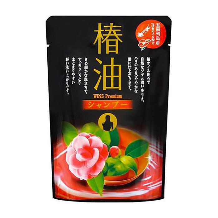 Шампунь для волос Wins Premium Shampoo, Увлажняющий шампунь для волос с маслом камелии и цветочным ароматом, Япония  - Купить