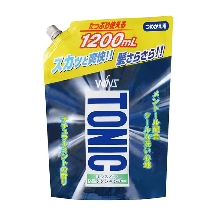 Купить Шампунь с ополаскивателем для волос Wins Rinse in Tonic Shampoo (1200 мл), Тонизирующий шампунь для волос с ополаскивателем против перхоти и зуда, Япония