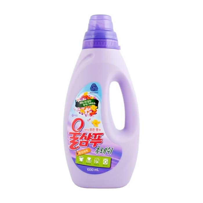 Купить Жидкое средство для стирки Wool Shampoo Fresh, Жидкое средство с низким пенообразованием для стирки деликатных тканей, Южная Корея