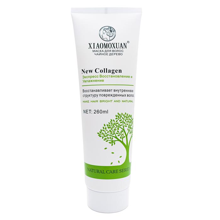 Купить Маска для волос Xiaomoxuan New Collagen (260 мл), Маска с коллагеном для питания и восстановления повреждённых волос, Тайвань