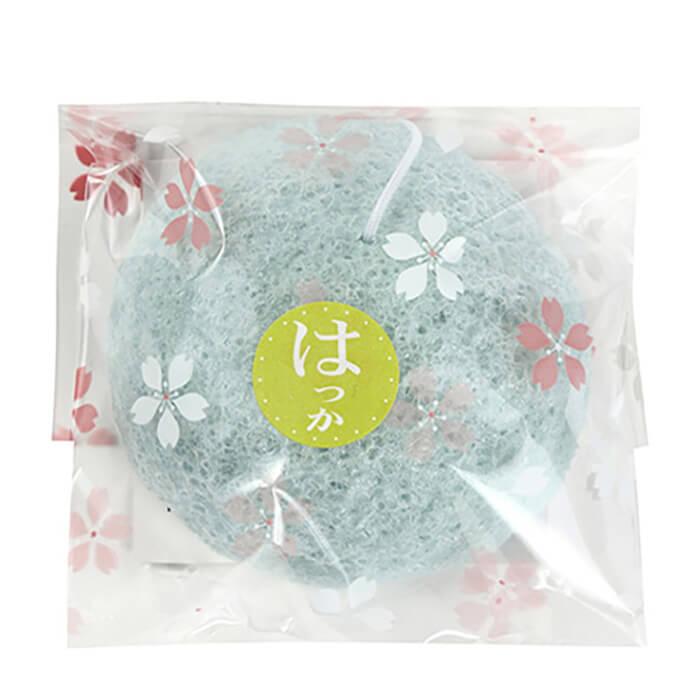 Купить Спонж конняку Yamamoto Farm Konjac Sponge Mint, Натуральный спонж для очищения и снятия раздражения кожи лица с экстрактом мяты, Япония
