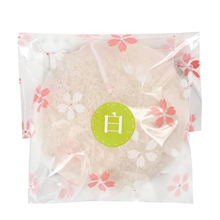Купить Спонж конняку Yamamoto Farm Konjac Sponge Pearl Powder, Натуральный спонж для очищения и осветления кожи лица с жемчужной пудрой, Япония