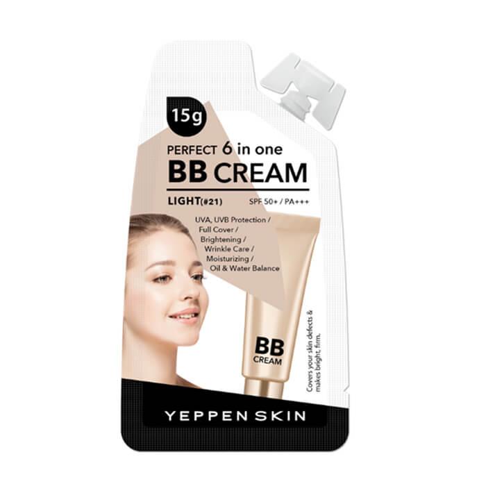 Купить ВВ крем Yeppen Skin Perfect 6 In One BB Cream Light #21, Тональный уходовый ВВ крем для лица с защитными свойствами, Южная Корея
