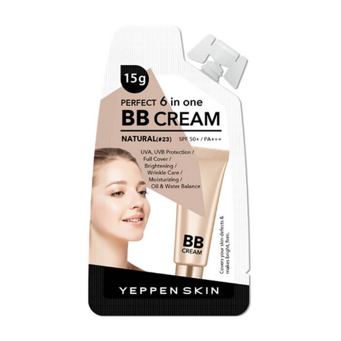 Купить ВВ крем Yeppen Skin Perfect 6 In One BB Cream Light #23, Тональный уходовый ВВ крем для лица с защитными свойствами, Южная Корея