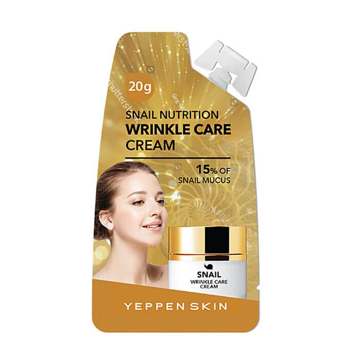 Крем для лица Yeppen Skin Snail Nutrition Wrinkle Care Cream Питательный крем для лица с секретом улитки фото