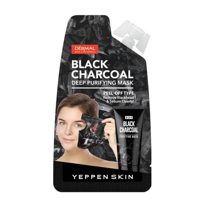 Купить Маска-пленка Yeppen Skin Black Charcoal Deep Purifying Mask, Маска-пленка для глубокого очищения лица с углем, Южная Корея