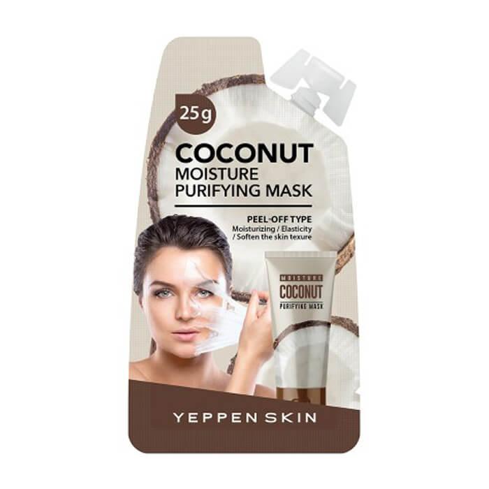 Купить Маска-пленка Yeppen Skin Coconut Moisture Purifying Mask, Увлажняющая маска для лица с кокосовым маслом, Южная Корея