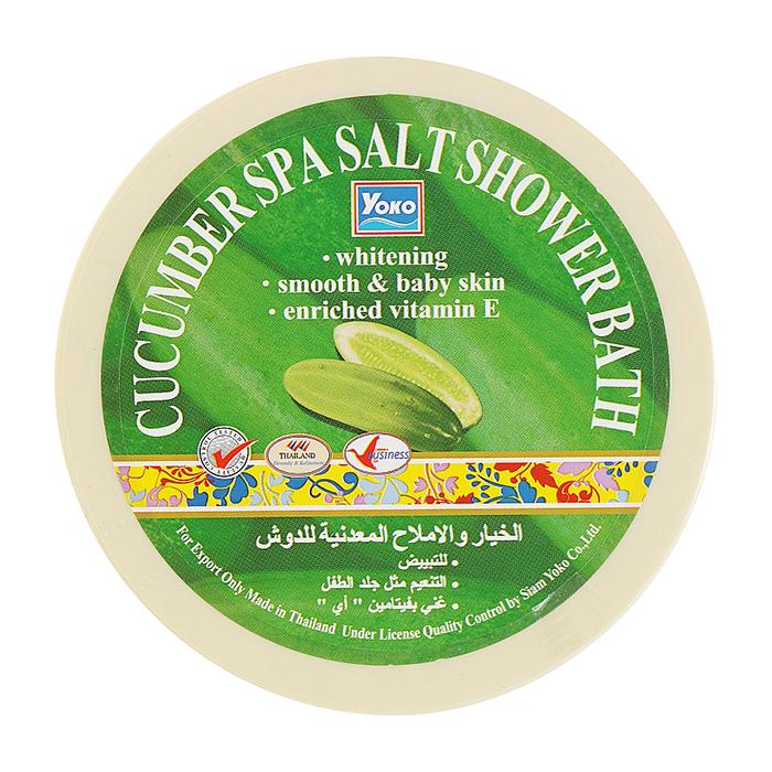 Купить СПА соль YOKO SPA Cucumber Salt Shower Bath, Скрабирующая SPA соль для душа с ароматом огурца, Таиланд