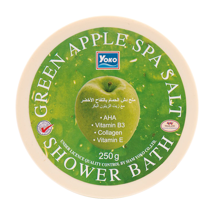 Купить СПА соль YOKO SPA Green Apple Salt Shower Bath, Скрабирующая SPA соль для душа с ароматом зелёного яблока, Таиланд