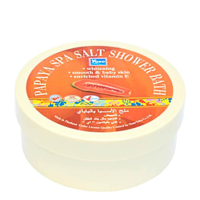 Купить СПА соль YOKO Papaya SPA Salt Shower Bath, Скрабирующая SPA соль для душа с экстрактом папайи, Таиланд