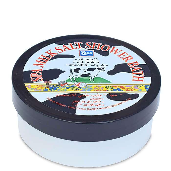 Купить СПА соль YOKO SPA Milk Salt Shower Bath, Скрабирующая SPA соль для душа с молочными протеинами, Таиланд