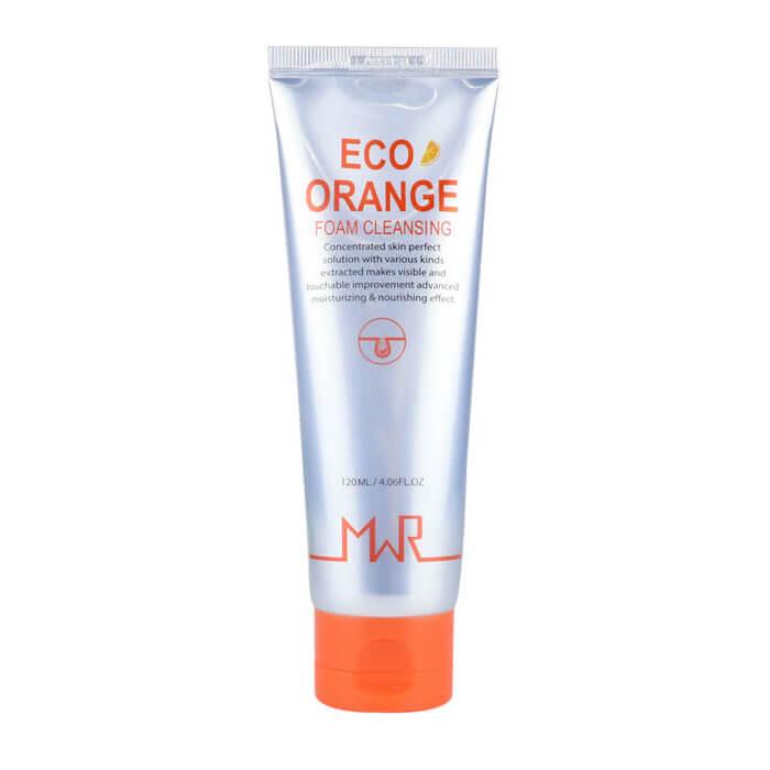 Купить Пенка для умывания MWR Eco Orange Foam Cleansing, Очищающая пенка для лица с экстрактом апельсина, Yu.r, Южная Корея