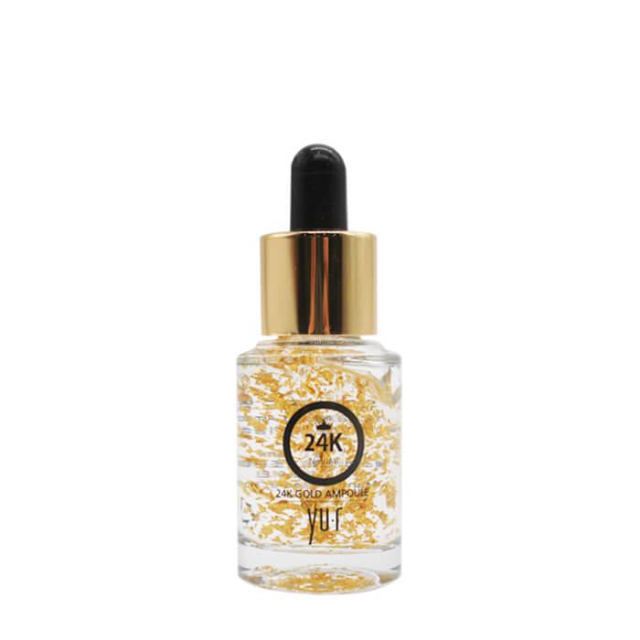 Купить Сыворотка для лица Yu.r Premium 24K Gold Ampoule (15 мл), Омолаживающая сыворотка для лица с частицами 24-каратного золота, Южная Корея