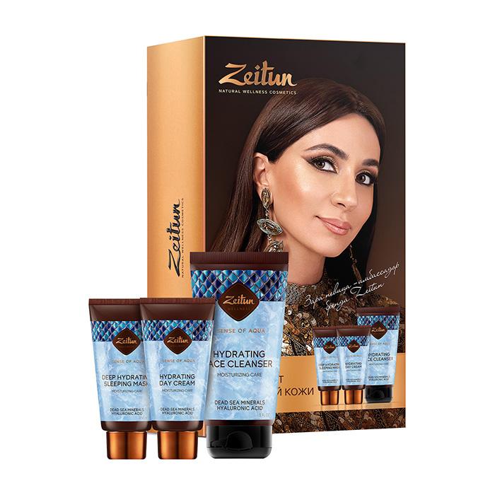 Купить Набор для лица Zeitun Ritual of Aqua Увлажняющий SPA-уход для лица , Подарочный набор для кожи лица с минералами Мёртвого моря и гиалуроновой кислотой, Иордания