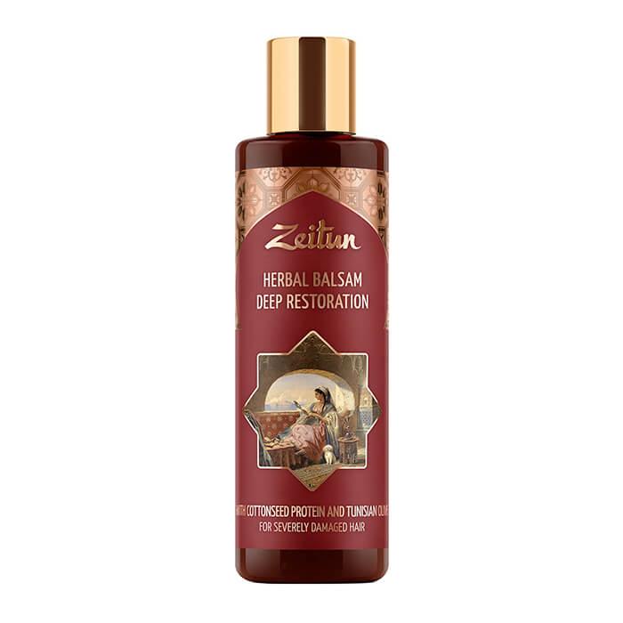 Купить Бальзам для волос Zeitun Herbal Balsam Deep Restoration (200 мл), Глубоко восстанавливающий фито-бальзам для повреждённых волос, Иордания