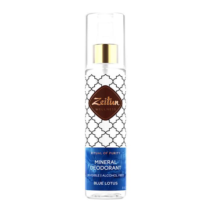 Дезодорант Zeitun Mineral Deodorant - Blue Lotos Минеральный спрей-антиперспирант с натуральными квасцами фото
