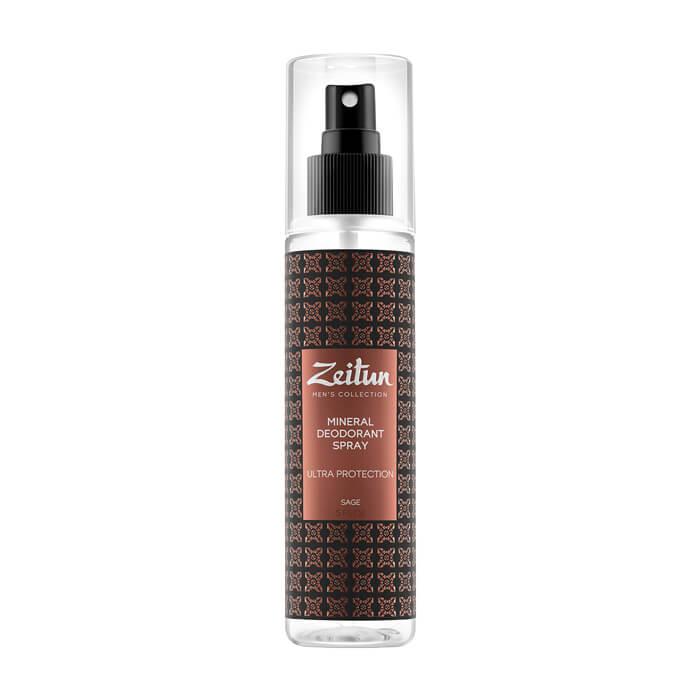 Купить Дезодорант Zeitun Ultra Protection Mineral Deodorant Spray, Мужской минеральный дезодорант-антиперспирант с шалфеем, Иордания