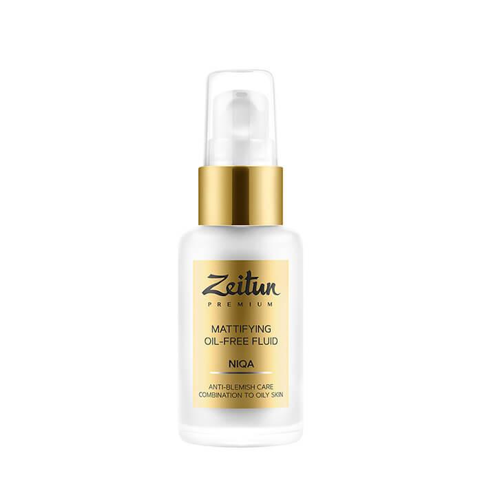 Флюид для лица Zeitun Niqa Mattifying Oil-Free Fluid Дневной матирующий флюид без масел для длительного балансирования кожи лица фото